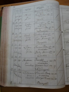 Abraham Rozenthal (penultimate record), Banai's grandfather, Civil Registration sample